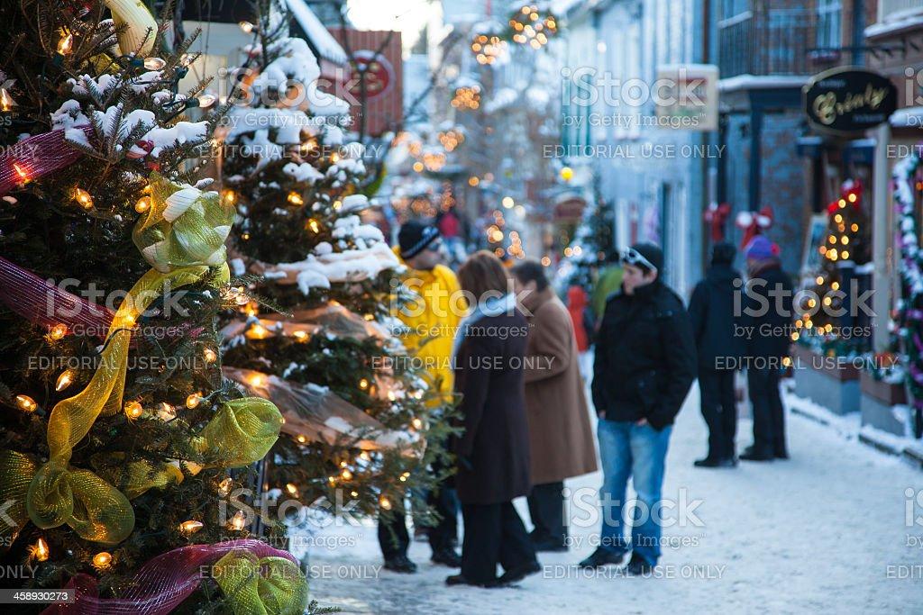 Albero Di Natale Quebec.Natale In Old Quebec City Fotografie Stock E Altre Immagini Di Albero Istock