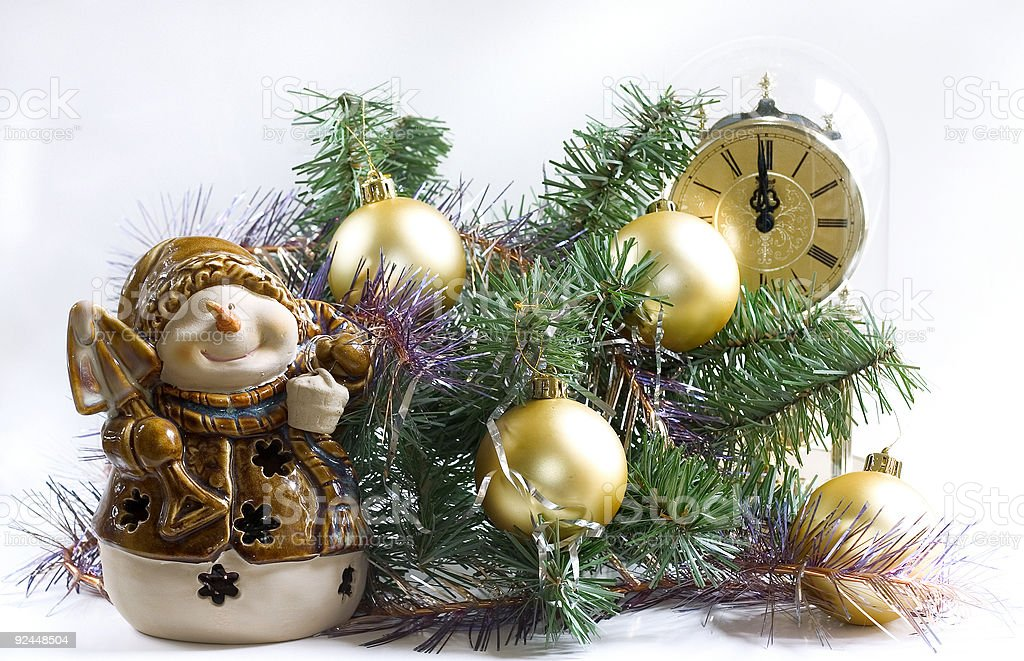 christmas time with snowman royalty-free stock photo