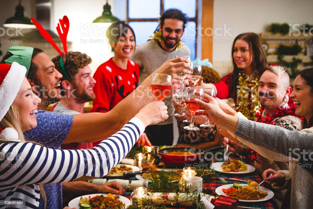 Christmas Toast stock photo