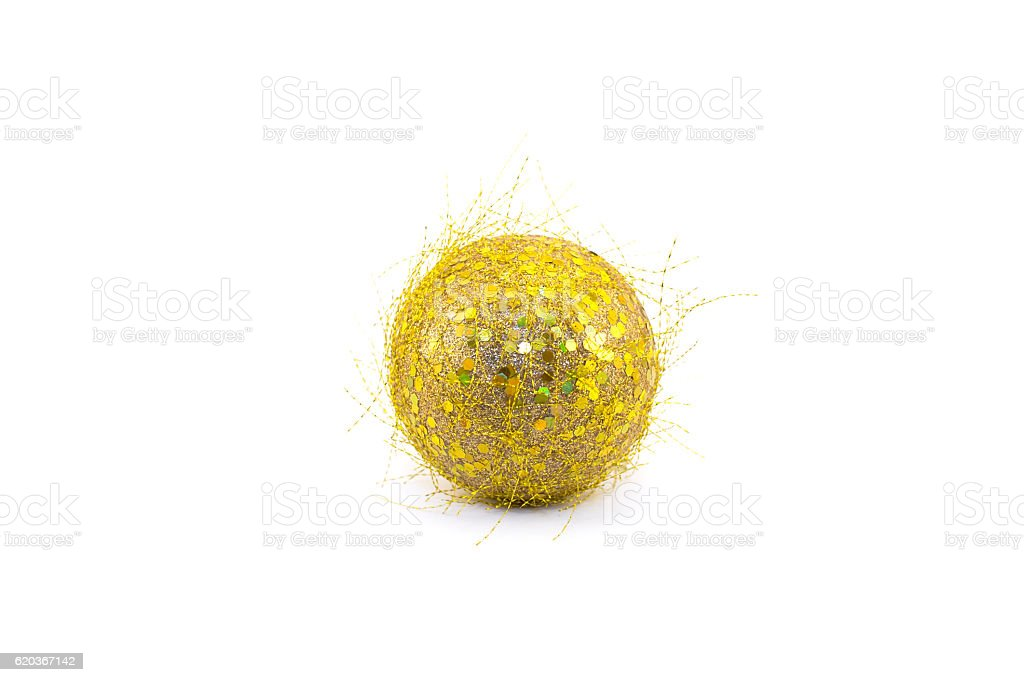 Christmas toy a gold sphere foto de stock royalty-free
