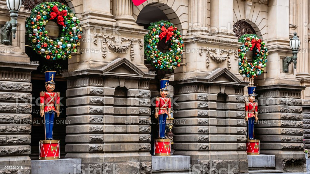 Christmas toy soldier stock photo