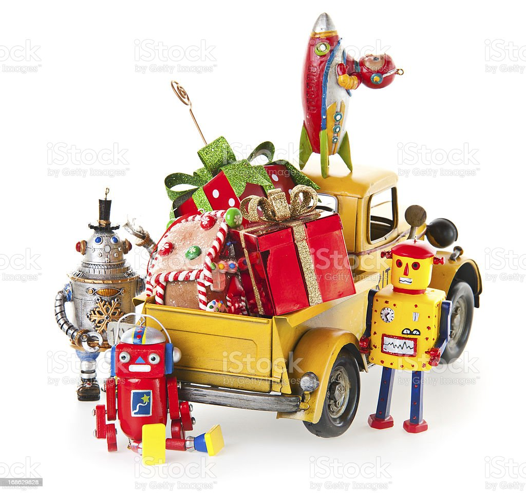 Christmas Toys and Gifts stock photo