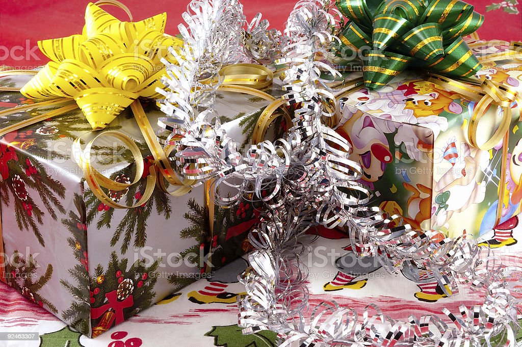 Christmas toys and gifts. royalty-free stock photo