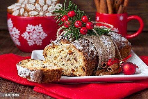 istock Christmas traditional cake 616897688