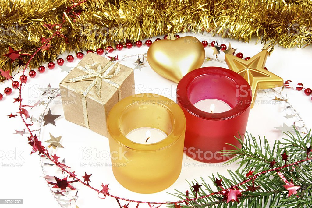 Christmas traditional ornaments royalty-free stock photo