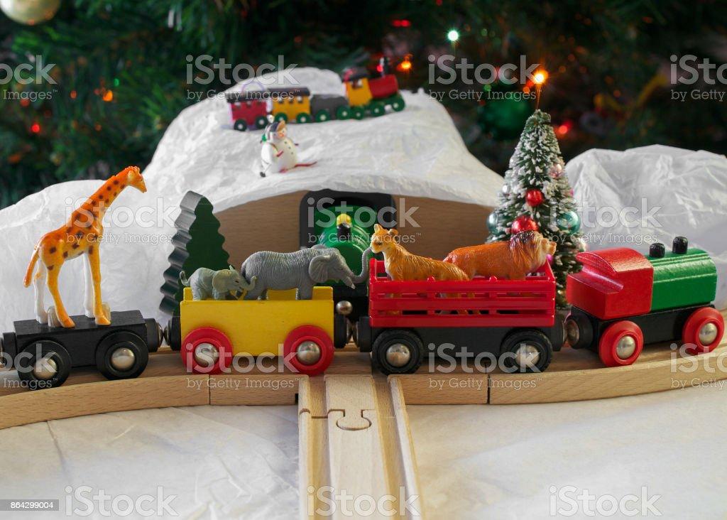 Christmas train royalty-free stock photo