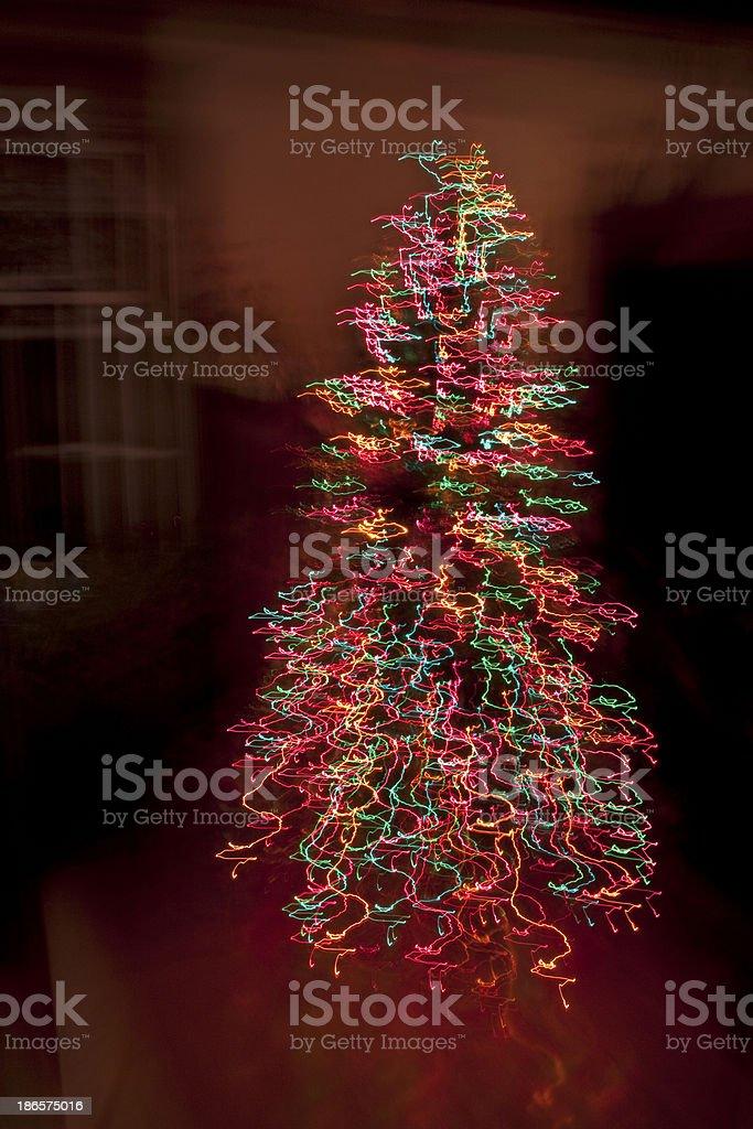 Christmas tree abstract royalty-free stock photo