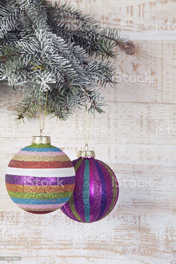 Christmas tree and bauble royalty-free stock photo