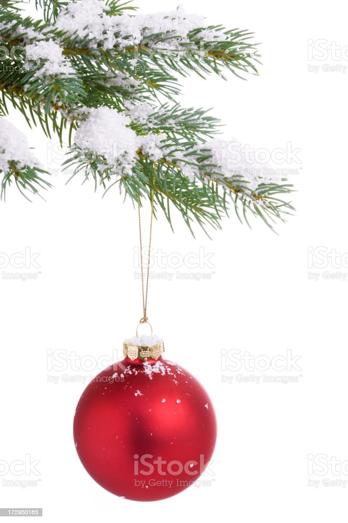 Christmas Tree and Baubles (XXL) royalty-free stock photo