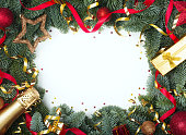 istock Christmas tree and decor 1190523537