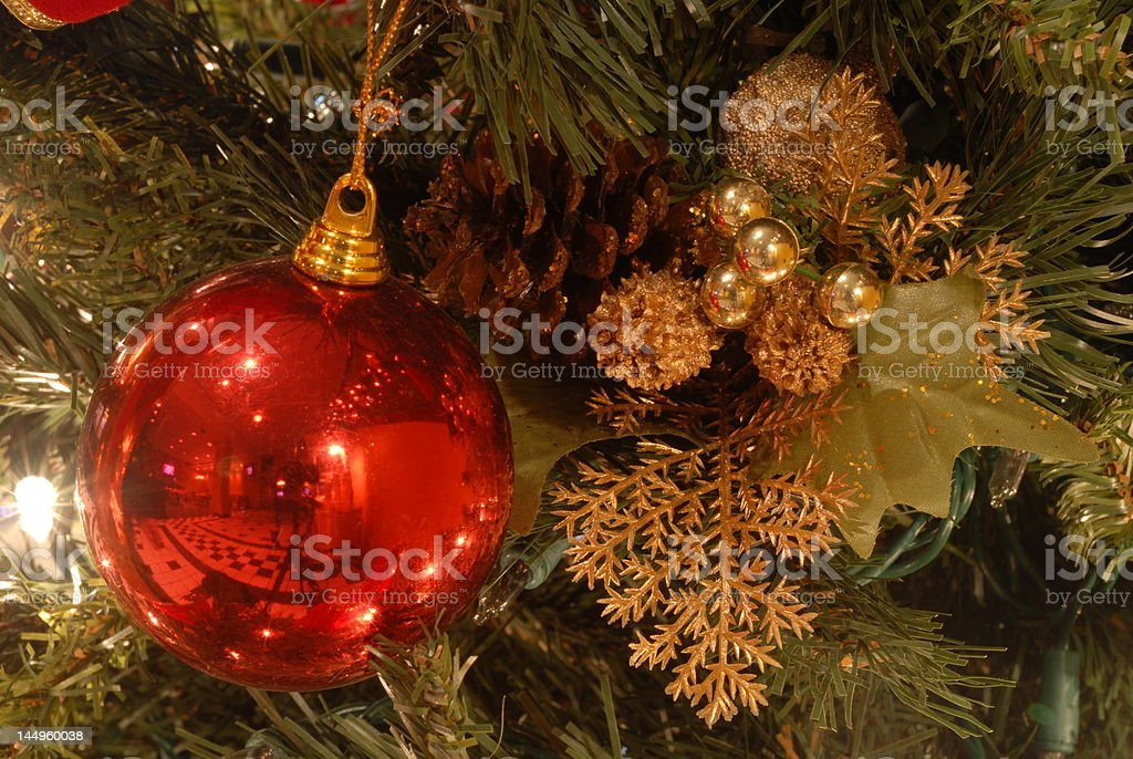 Christmas Tree and Ornaments VII royalty-free stock photo