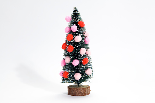 christmas tree and pompoms