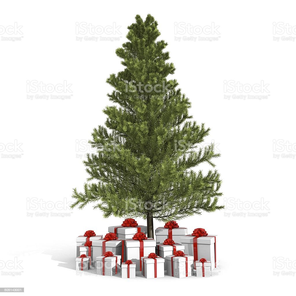 Christmas tree and presents royalty-free stock photo