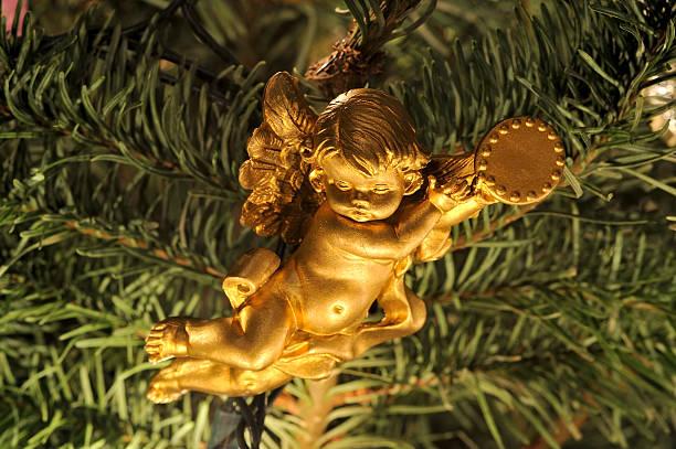Árbol de Navidad ángel ornament - foto de stock