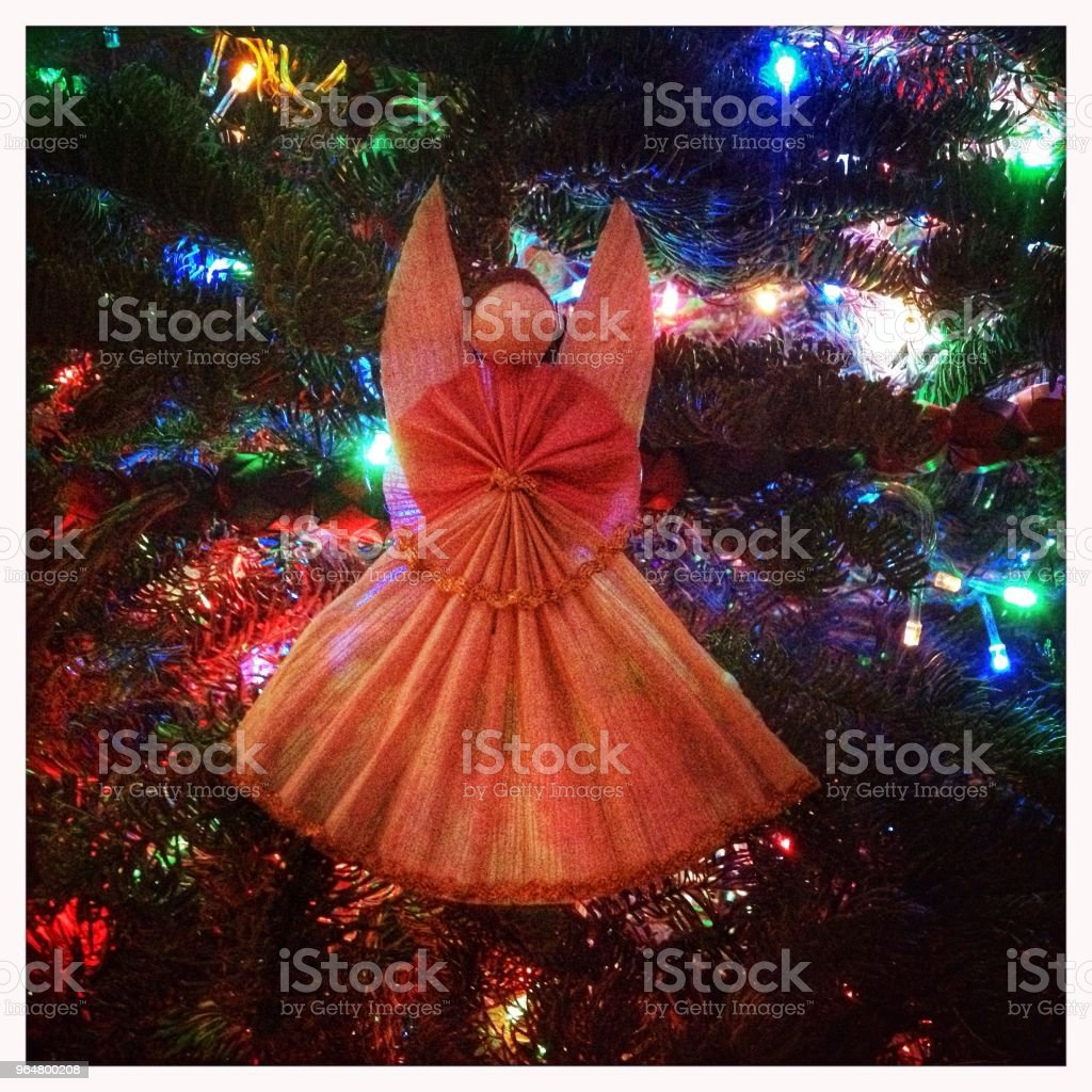 Christmas tree angel royalty-free stock photo