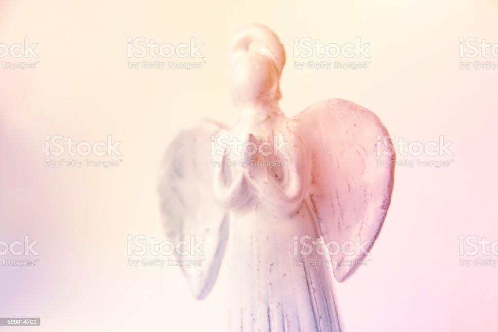 Christmas tree angel toy stock photo