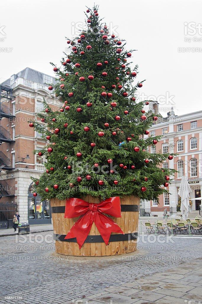 Weihnachtsbaum England.Weihnachtsbaum Auf Der Vorderseite Von Covent Garden In London