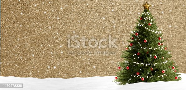 istock christmas tree at golden background abstract creative 3d-illustration 1170578336