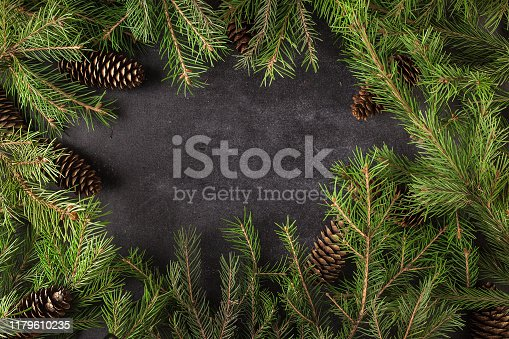 Christmas, tree, background, blank, blackboard