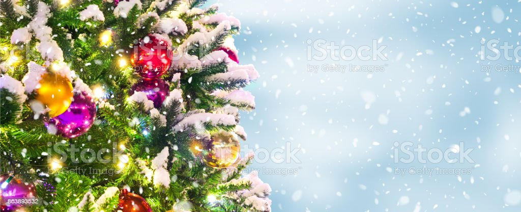 Christmas Tree Background Stock Photo More Pictures Of Ball Istock