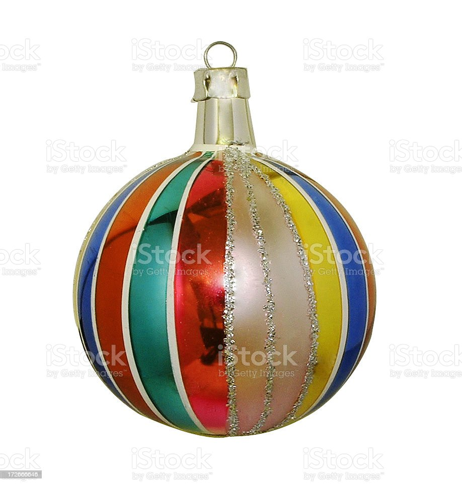 Christmas tree bauble royalty-free stock photo