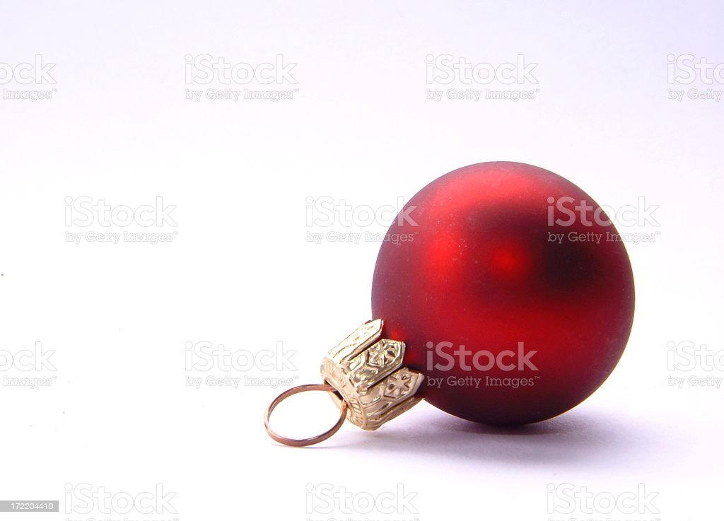 Christmas tree bauble - red royalty-free stock photo