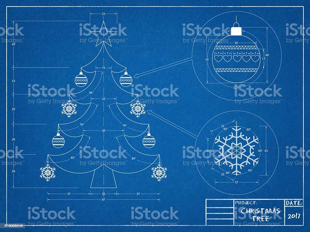Weihnachtsbaum Entwurf – Foto
