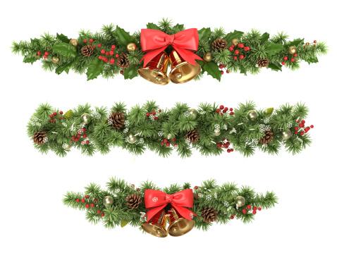 Christmas tree borders.