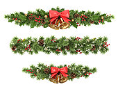 istock Christmas tree borders. 158249027