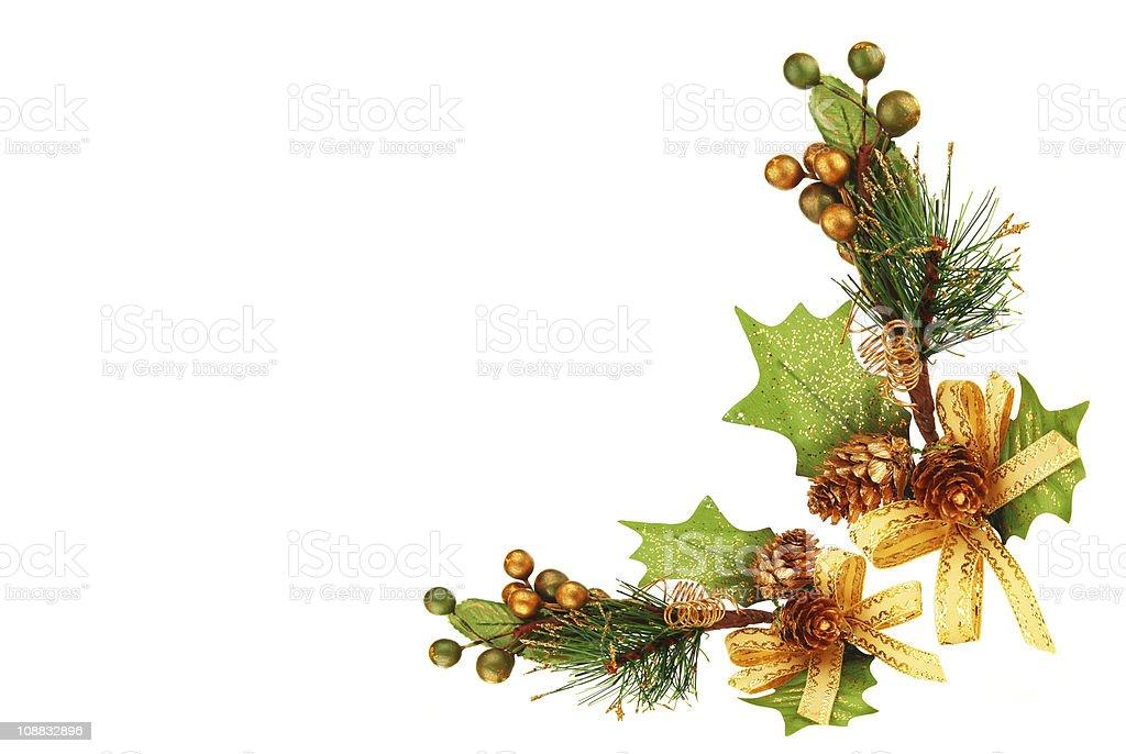 Christmas tree branch ornament royalty-free stock photo