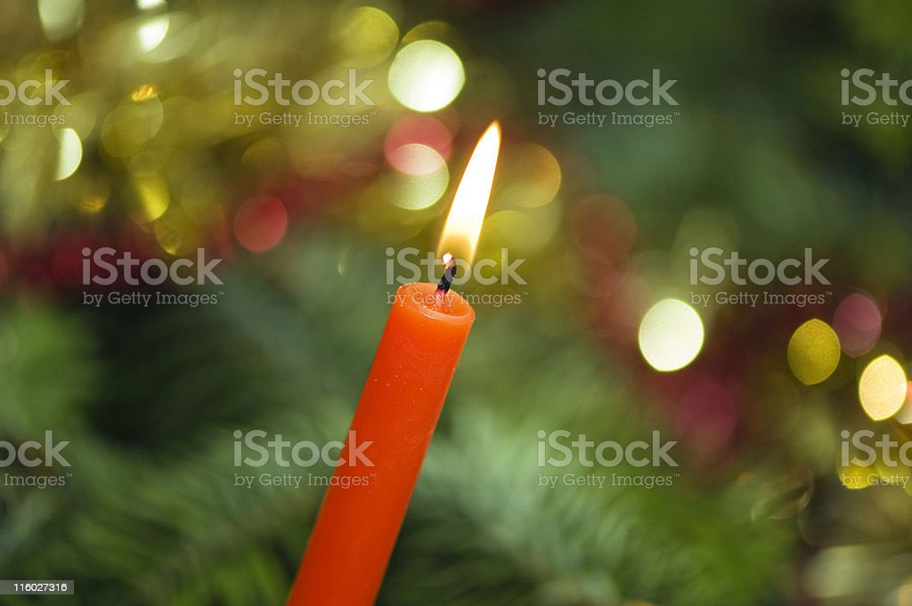 Christmas Tree Candle royalty-free stock photo