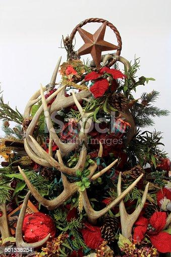 Weihnachtsbaum Herz Dekoration Aus Hirsch Geweih Stock-Fotografie ...