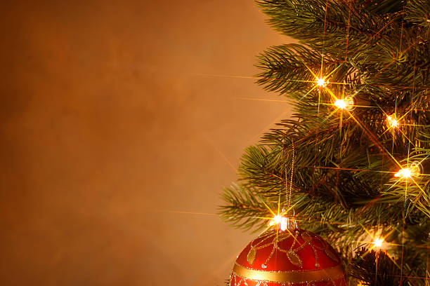 Christmas Tree Close Up stock photo
