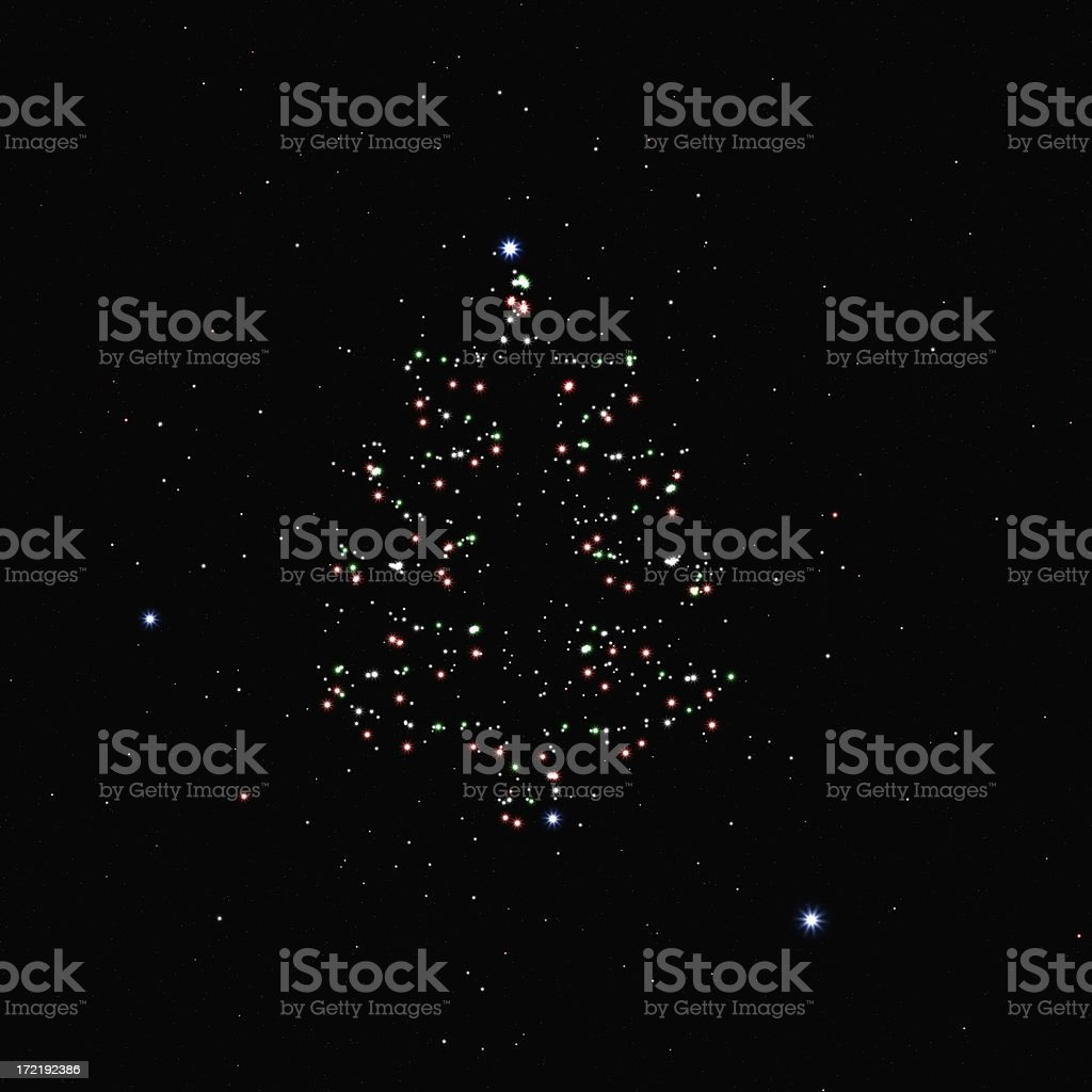 Christmas Tree Cluster XL royalty-free stock photo