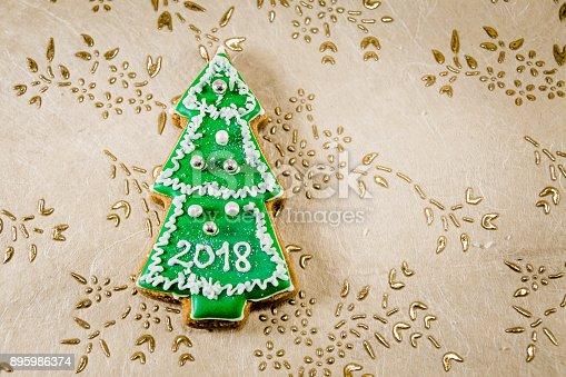 1056829102 istock photo Christmas tree cookies 895986374