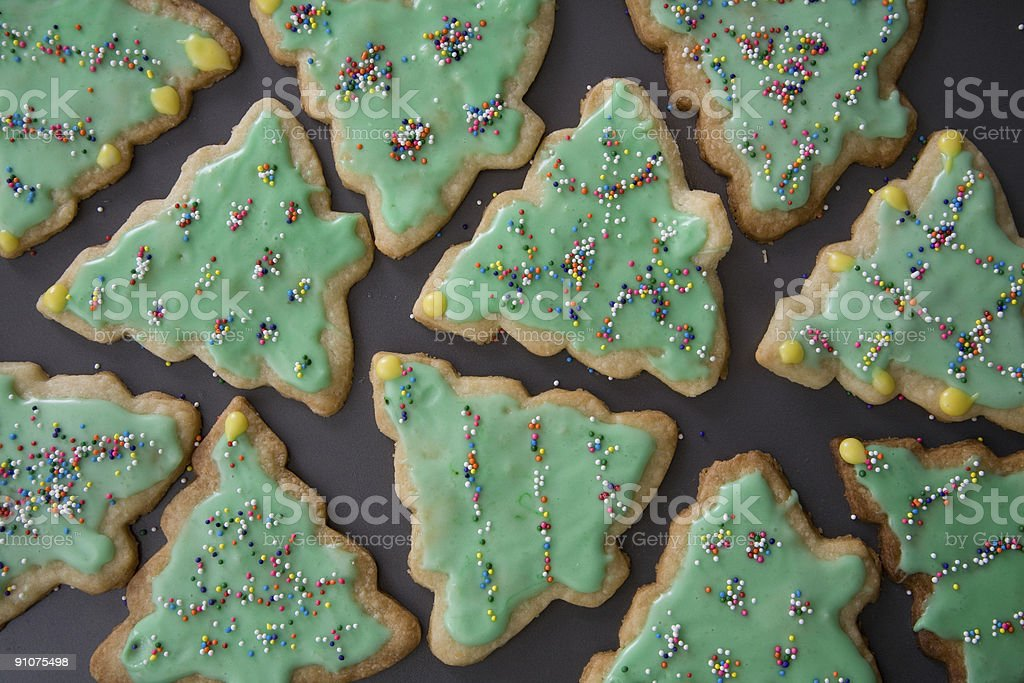Christmas Tree Cookies stock photo