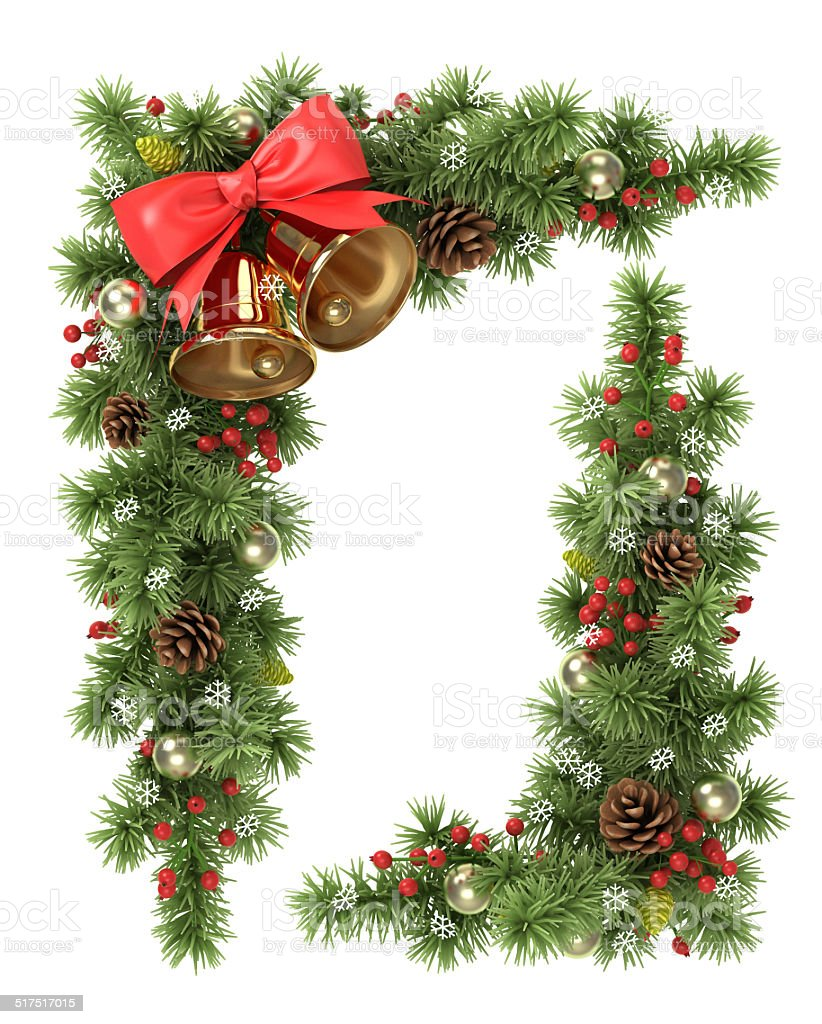 Christmas tree corner. stock photo
