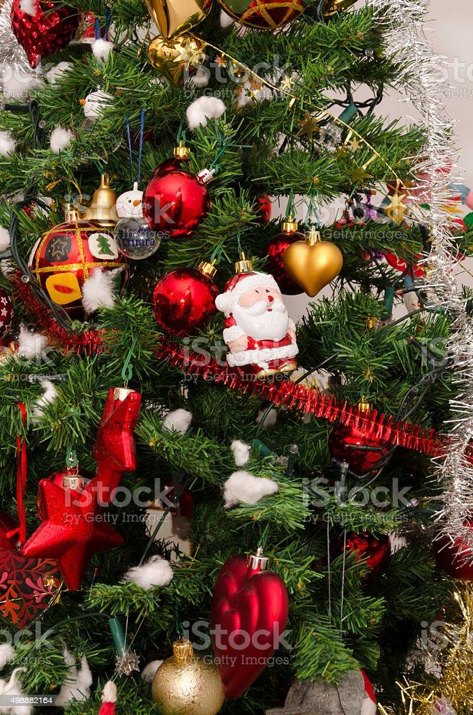 Christmas tree decorated stock photo