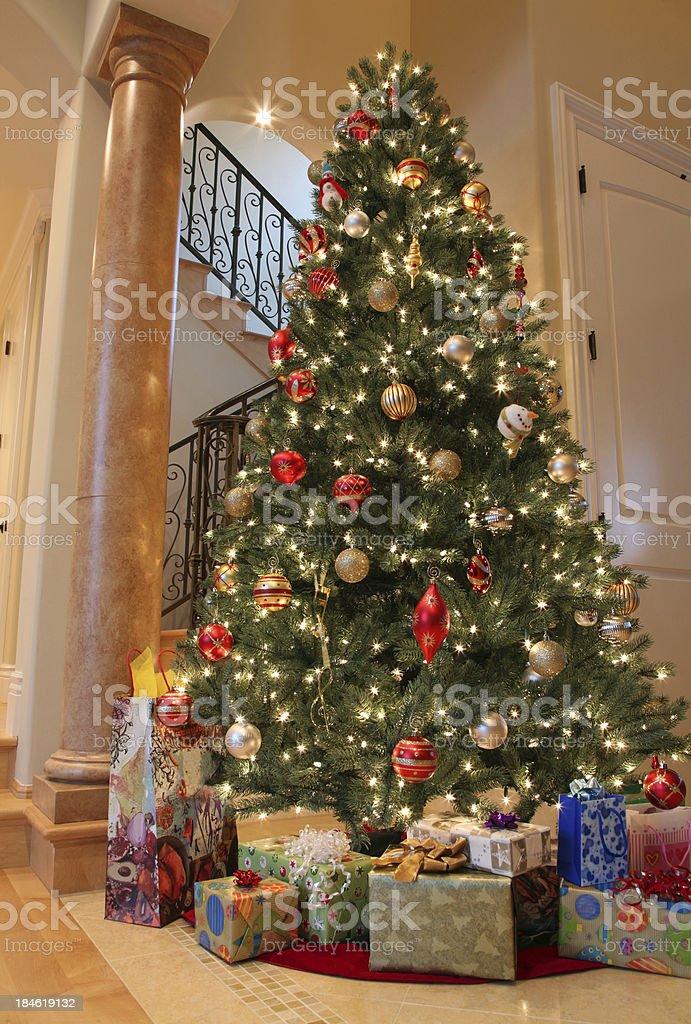 Christmas Tree Decoration at Home royalty-free stock photo
