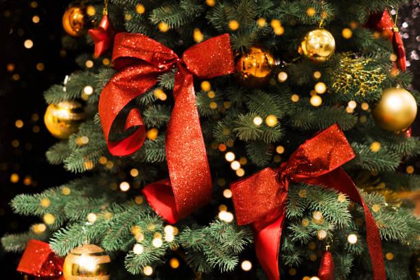 Weihnachtsbaum Dekoration Hintergrund – Foto