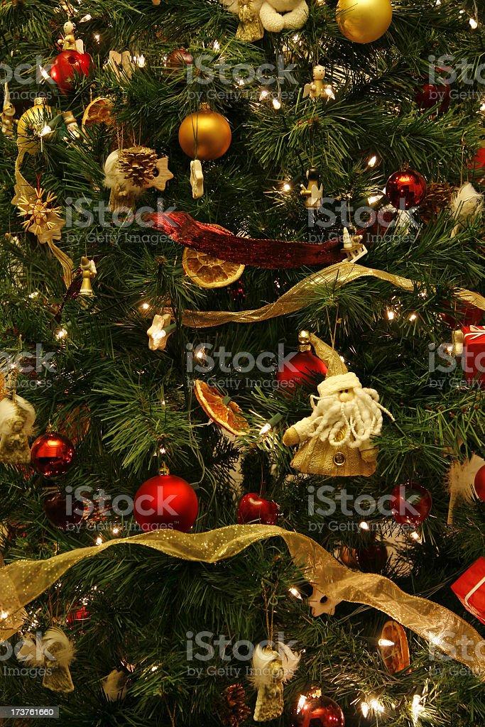 Christmas tree decoration background royalty-free stock photo