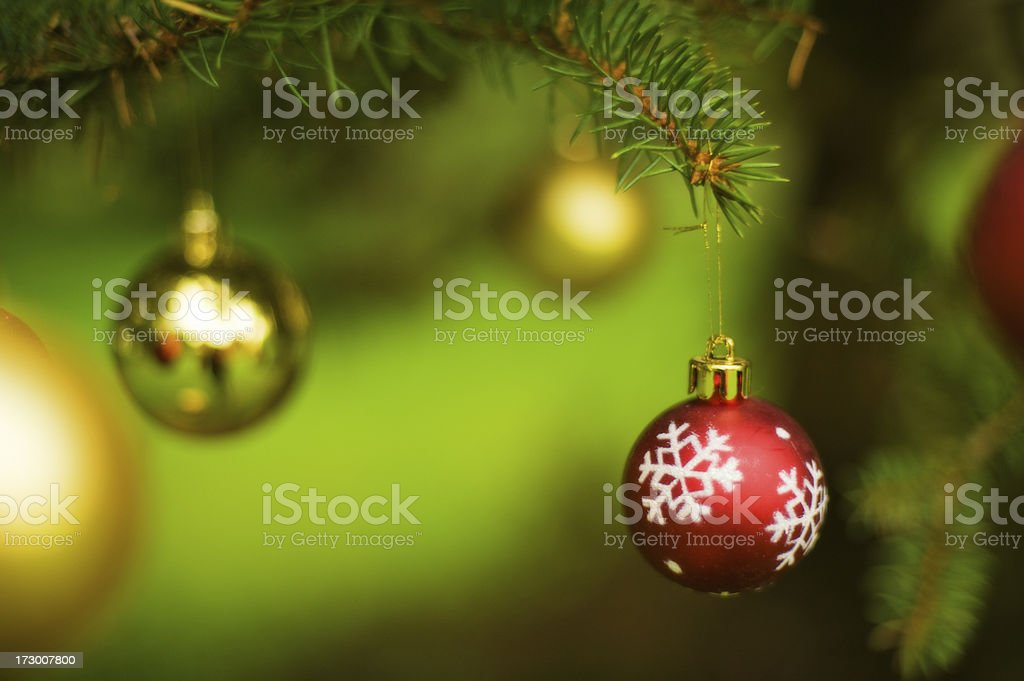 Christmas tree decoration Bauble royalty-free stock photo