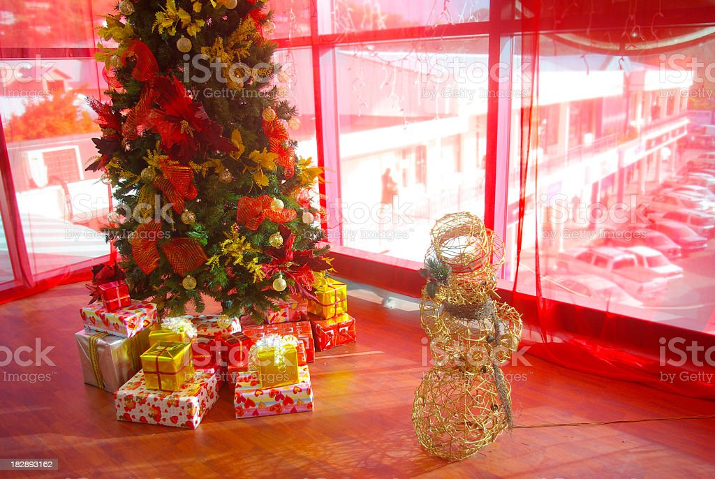 christmas tree decoration in shopping mall royalty-free stock photo