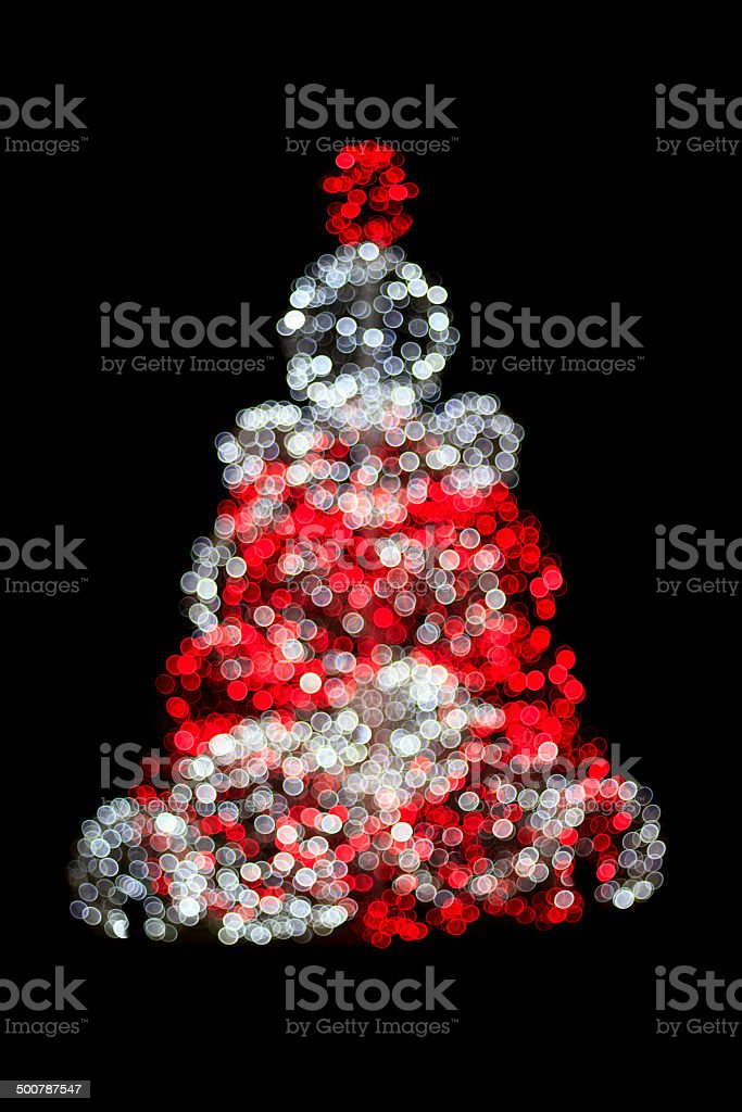 Christmas tree decoration isolated on a black background royalty-free stock photo