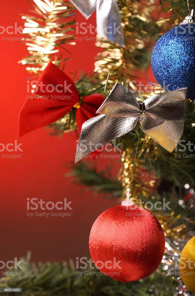 Christmas tree decoration stock photo