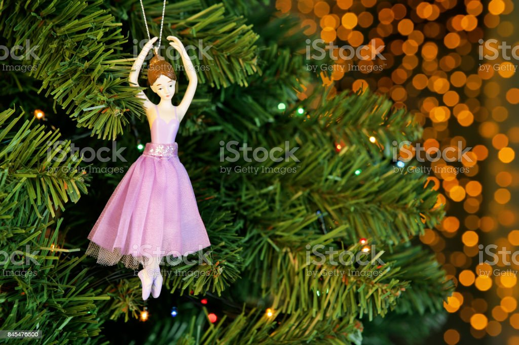 Christmas Tree Decoration With Bokeh Background Stock Photo More