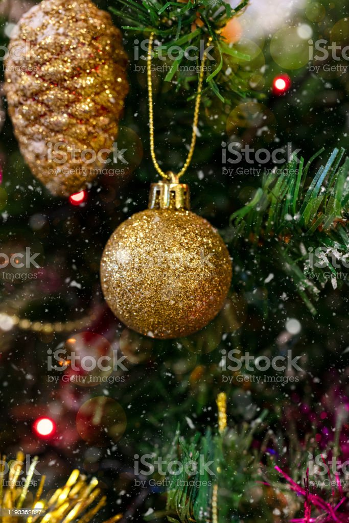 Christmas Tree Decorations Colorful Lights Snowflakes And Glittering Colors Stock Photo Download Image Now Istock