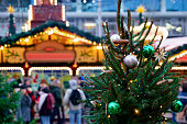 istock Christmas tree decorations in Christmas market in Memorial Church 1152707384