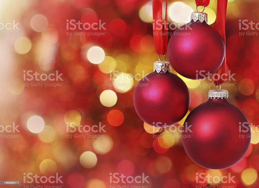 Christmas tree decorations on lights background - Royalty-free Bright Stock Photo