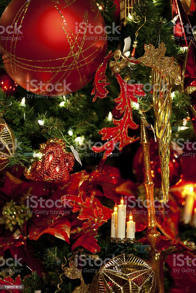 크리스마스 트리 장식 royalty-free 스톡 사진